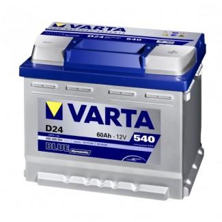 Аккумулятор 6CT-60  VARTA D24  Blue Dynamic D24  Обратная полярность