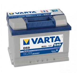 Аккумулятор 6CT-60  VARTA D59  Blue Dynamic D59  Обратная полярность