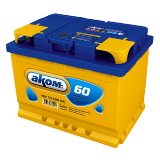 Аккумулятор 6СТ-60 АКОМ    Обратная полярность