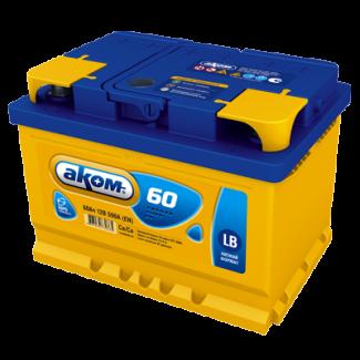 Аккумулятор 6СТ-60 АКОМ  низкая  Обратная полярность