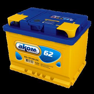 Аккумулятор 6СТ-62 АКОМ    Прямая полярность
