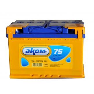 Аккумулятор 6СТ-75 АКОМ    Обратная полярность