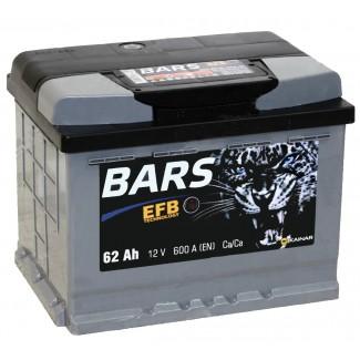 Аккумулятор 6СТ-62 КАЙНАР  Bars EFB  Обратная полярность