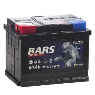 Аккумулятор 6CT-60 КАЙНАР  Bars Silver  Обратная полярность