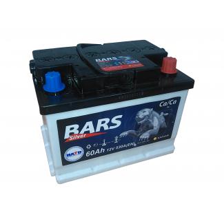 Аккумулятор 6CT-60 КАЙНАР  Bars Silver (низкий)  Обратная полярность