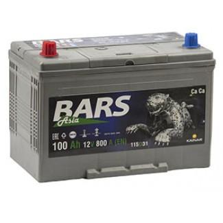 Аккумулятор 6СТ-100 КАЙНАР  Bars Silver Asia  Прямая полярность