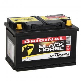 Аккумулятор 6СТ-75 Black Horse  Original  Обратная полярность