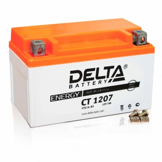 Аккумулятор CT1207 DELTA  YTX7A-BS  Прямая полярность