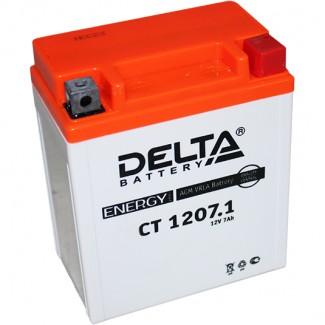 Аккумулятор CT1207.1 DELTA  YTX7L-BS  Обратная полярность