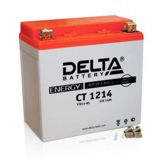 Аккумулятор CT1214 DELTA  YTX14-BS, YTX14H-BS, YTX16-BS, YB16B-A  Прямая полярность