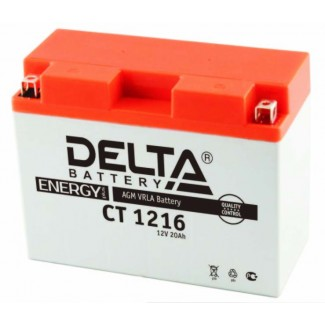 Аккумулятор CT1218 DELTA  YTX20-BS,YTX20H,YB16-B, YB18-A  Прямая полярность