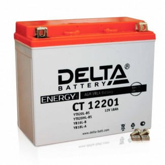 Аккумулятор CT12201 DELTA  YTX20L-BS, YTX20HL-BS, YB16L-B, YB18L-A  Обратная полярность