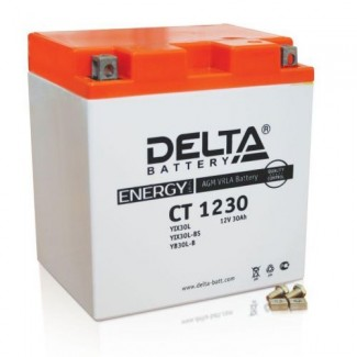 Аккумулятор CT1230 DELTA  YTX30L, YB30L-B  Обратная полярность