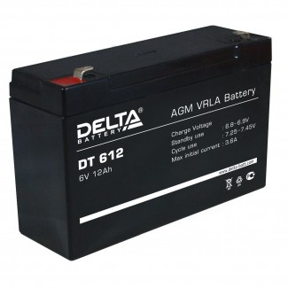 Аккумулятор DT 612 Delta    Прямая полярность