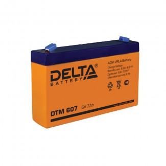 Аккумулятор DTM 607 Delta    Прямая полярность