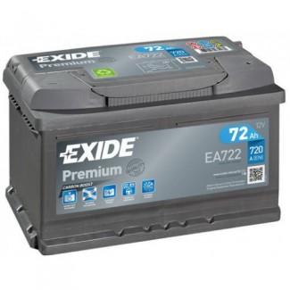 Аккумулятор 6CT-72 EXIDE  PREMIUM низкий EA722  Обратная полярность