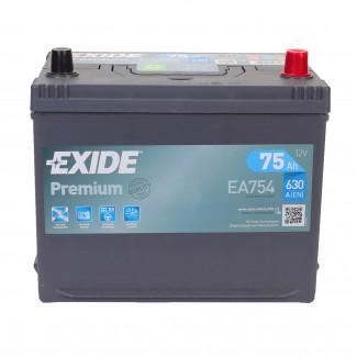 Аккумулятор 6CT-75   EXIDE  Premium Asia EA754  Обратная полярность