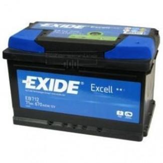 Аккумулятор 6CT-71 EXIDE  Excell низкий EB712  Обратная полярность
