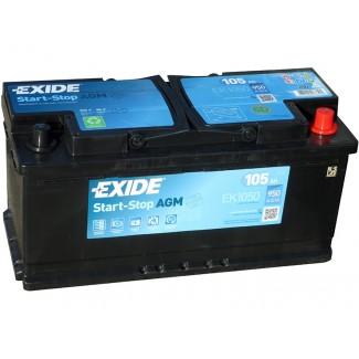 Аккумулятор 6CT-105  EXIDE  Start&Stop AGM  Обратная полярность