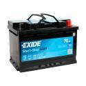 Аккумулятор 6CT-70  EXIDE  Start&Stop AGM  Обратная полярность