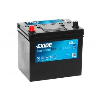 Аккумулятор 6CT-60 EXIDE  Start&Stop EFB EL604  Обратная полярность