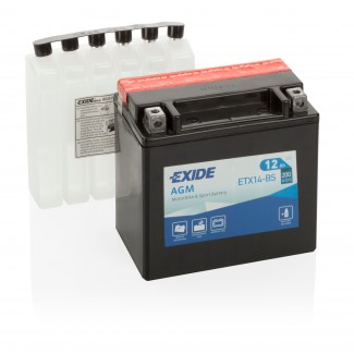 Аккумулятор EXIDE ETX14-BS EXIDE AGM  ETX14-BS  Обратная полярность