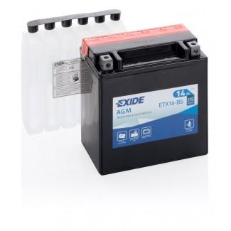 Аккумулятор EXIDE ETX16-BS EXIDE AGM  ETX16-BS  Прямая полярность
