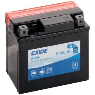 Аккумулятор EXIDE ETX5L-BS EXIDE AGM  ETX5L-BS  Обратная полярность