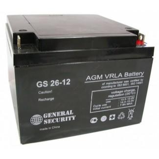 Аккумулятор CS 26-12 Ceneral Security    Обратная полярность