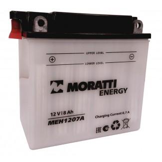 Аккумулятор 12V8 MORATTI  MEH1207A  YB7-A  Прямая полярность