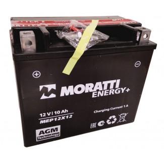Аккумулятор 12V10 MORATTI  MEP12Х12  YTX12-BS    Прямая полярность