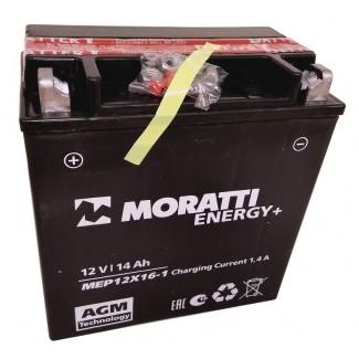 Аккумулятор 12V14 MORATTI  MEP12Х16-1  YTX16-BS-1    Прямая полярность