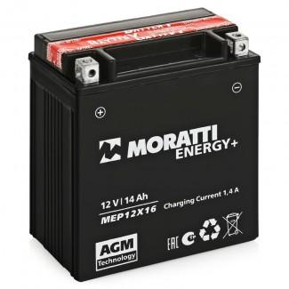 Аккумулятор 12V14 MORATTI  MEP12Х16  YTX16-BS  Прямая полярность