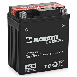 Аккумулятор 12V6 MORATTI  MEP12Х7  YTX7L-BS    Прямая полярность