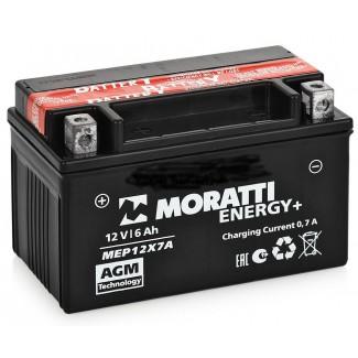 Аккумулятор 12V6 MORATTI  MEP12Х7А  YTX7А-BS    Прямая полярность