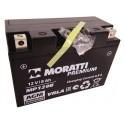 Аккумулятор 12V8 MORATTI  MP129B  YT9B-BS    Прямая полярность