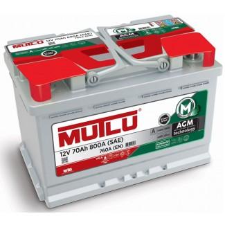 Аккумулятор 6СТ-70 MUTLU  Start-Stop Plus AGM  Обратная полярность