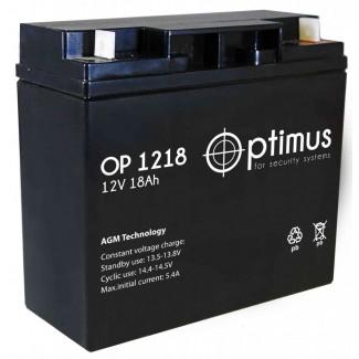 Аккумулятор ОР 1218 Optimus    Прямая полярность