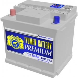 Аккумулятор 6СТ-50  Премиум  Тюменский АЗ  Обратная полярность