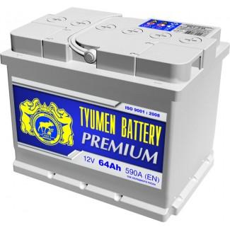 Аккумулятор 6СТ-64  Премиум  Тюменский АЗ  Обратная полярность
