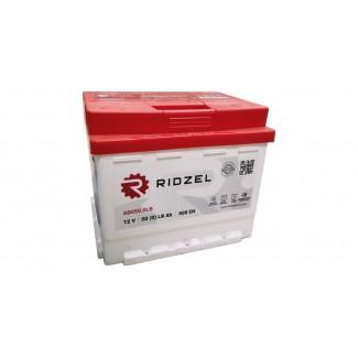 Аккумулятор 6CT-50   RIDZEL (низкий)    Прямая полярность