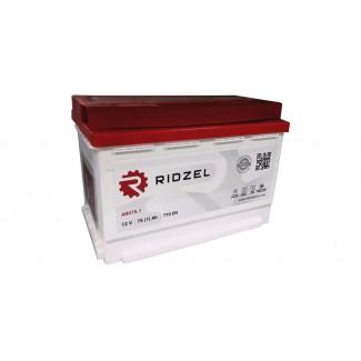 Аккумулятор 6СТ-75 RIDZEL (низкий)    Обратная полярность