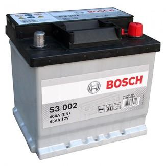 Аккумулятор 6CT-45  BOSCH  S3 002  Обратная полярность