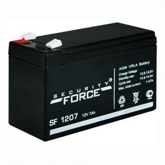 Аккумулятор SF1207 Security Force    Прямая полярность