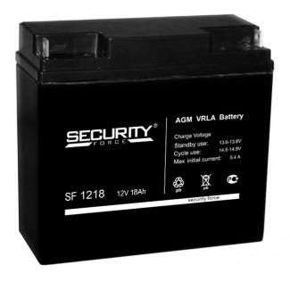 Аккумулятор SF1218 Security Force    Обратная полярность