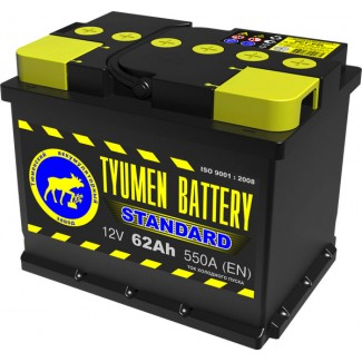 Аккумулятор 6СТ-62  Стандарт  Тюменский АЗ  Прямая полярность
