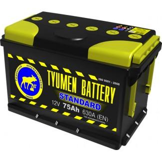 Аккумулятор 6СТ-75  Стандарт  Тюменский АЗ  Обратная полярность