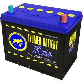 Аккумулятор 6СТ-75  Азия  Тюменский АЗ  Обратная полярность