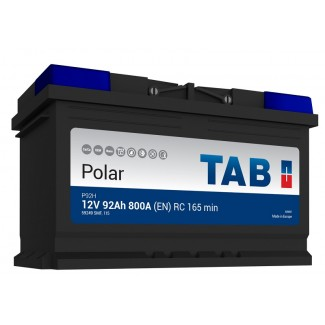 Аккумулятор 6СТ-92 TAB  POLAR 246092  Обратная полярность