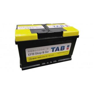Аккумулятор 6CT-80 TAB  StartStop  Обратная полярность
